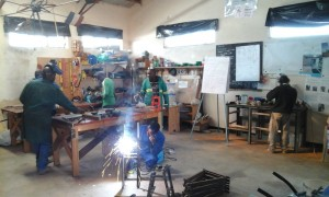 Training in the fabrication of Rope pumps