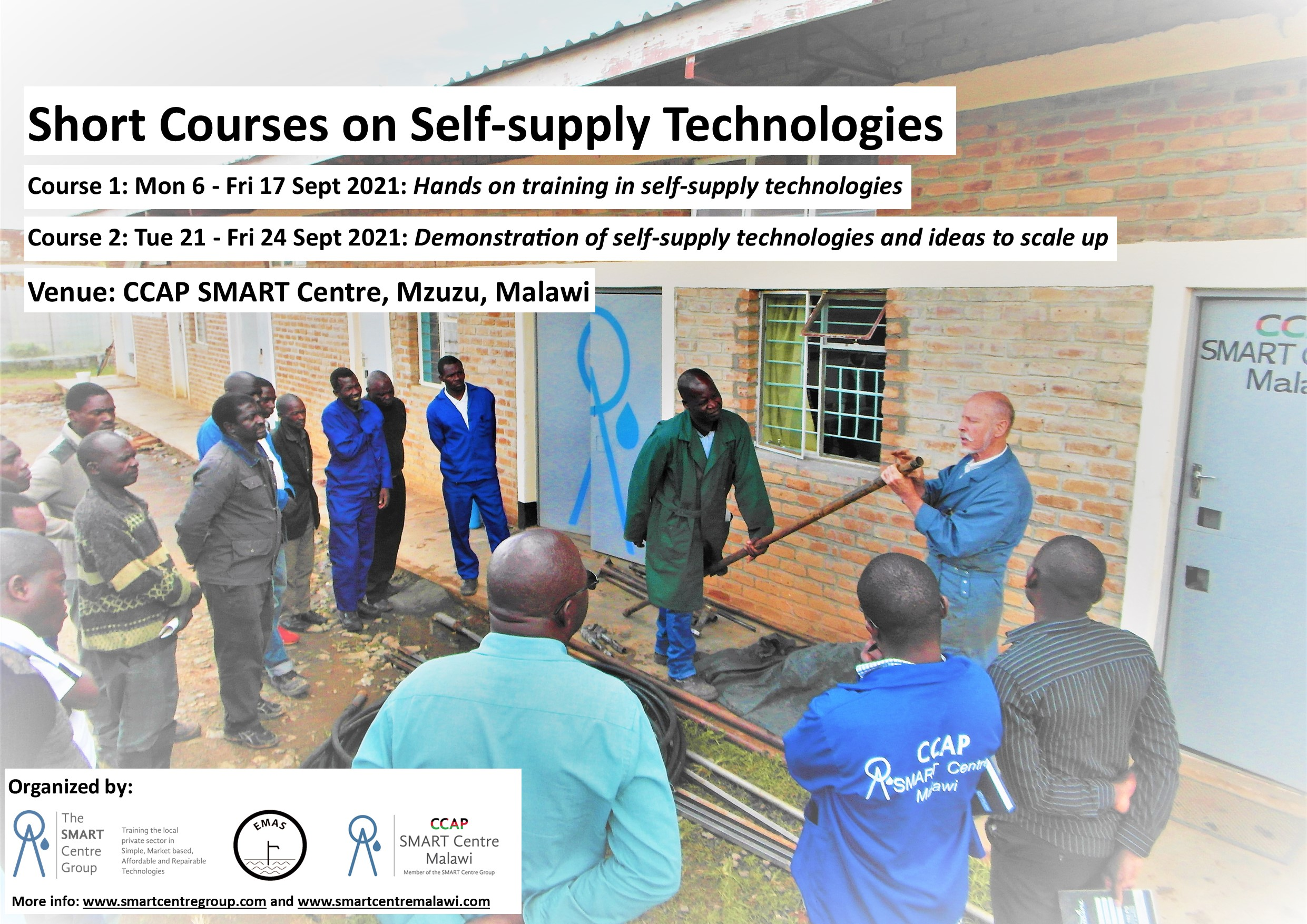 Short courses on Self-supply Technologies @ CCAP SMART Centre, Malawi